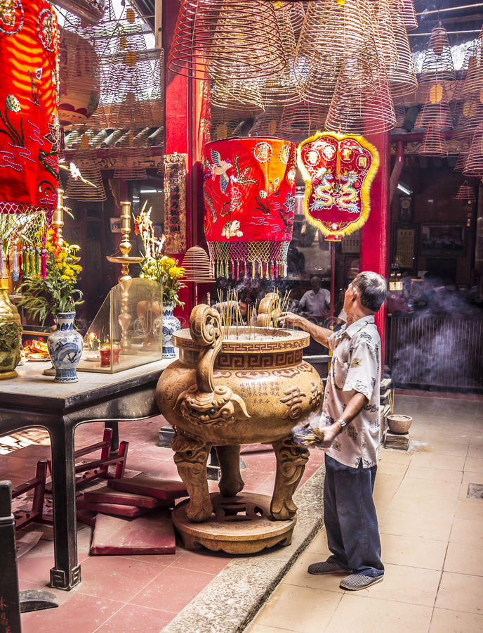 Inside the chinese temple royalty free stock photography
