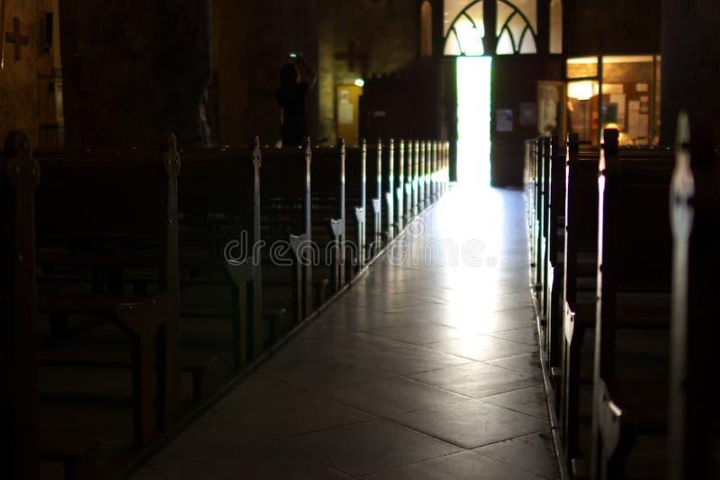 Inside a church royalty free stock photos