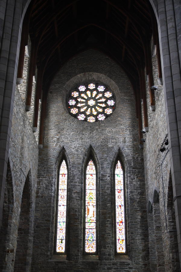 Inside church. This photograph represent a view over the inside of St. Mary's Cathedral in Killarney in Ireland stock photos
