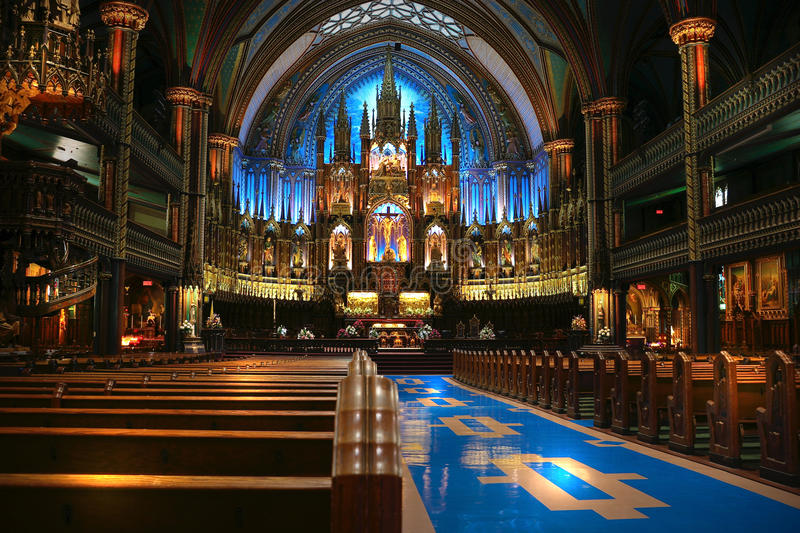 Inside of the church royalty free stock photography