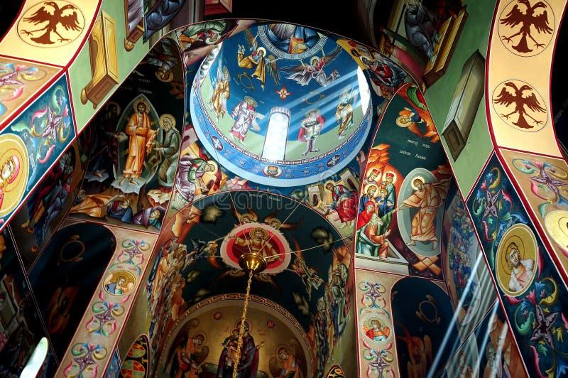 Inside a church stock image