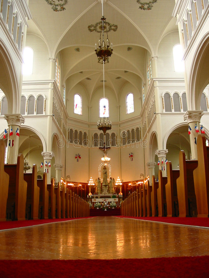 Inside of church royalty free stock images