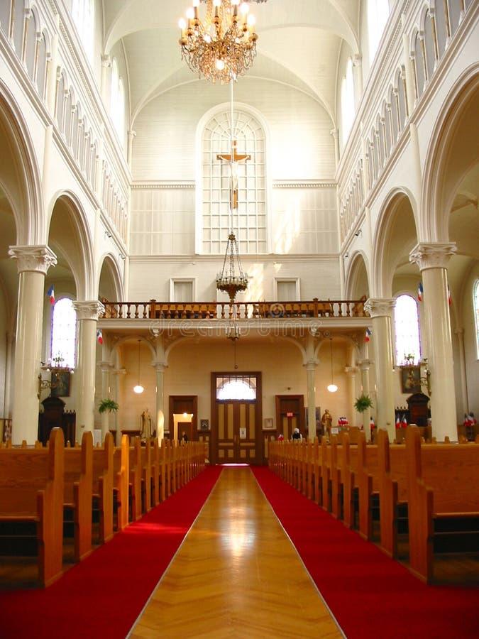 Inside of church stock photos