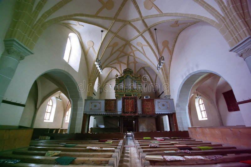 Inside church royalty free stock photography