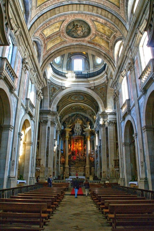 Inside church of Bom Jesus in Braga royalty free stock image