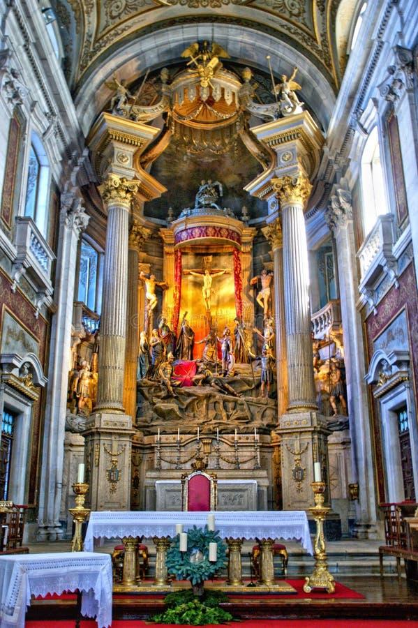 Inside church of Bom Jesus in Braga stock photos