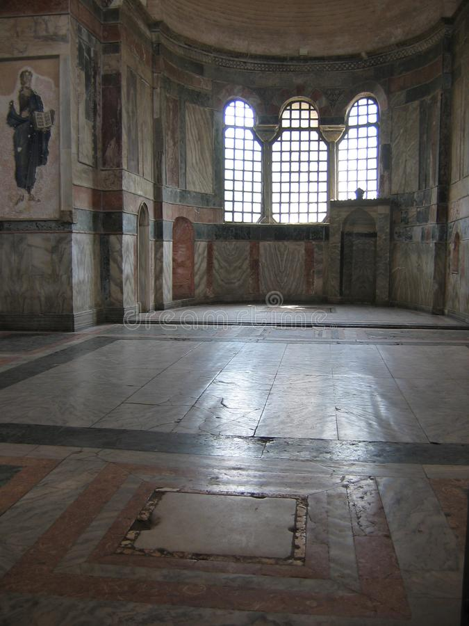 Inside of the church of St. Savior in Chora to Istanbul, Turkey royalty free stock images