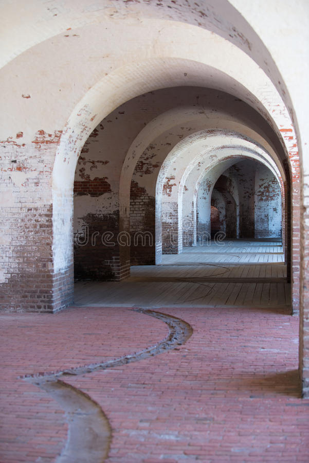 Download Inside a civil war fort stock photo. Image of cannon - 29093294