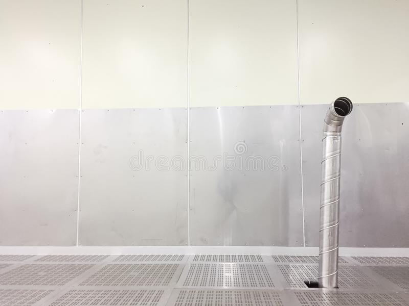 Inside Clean room class 1000 with exhaust at factory.  stock photography