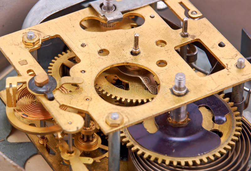 Download Inside the clock stock image. Image of watch, antique - 19041567