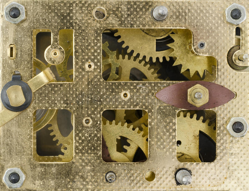 Download Inside the Clock stock image. Image of motion, old, turning - 26346117