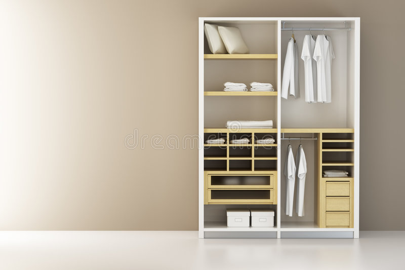 Download Inside The Closet 3d Rendering Stock Illustration   Illustration  Of Domestic, Cabinet: 6807538