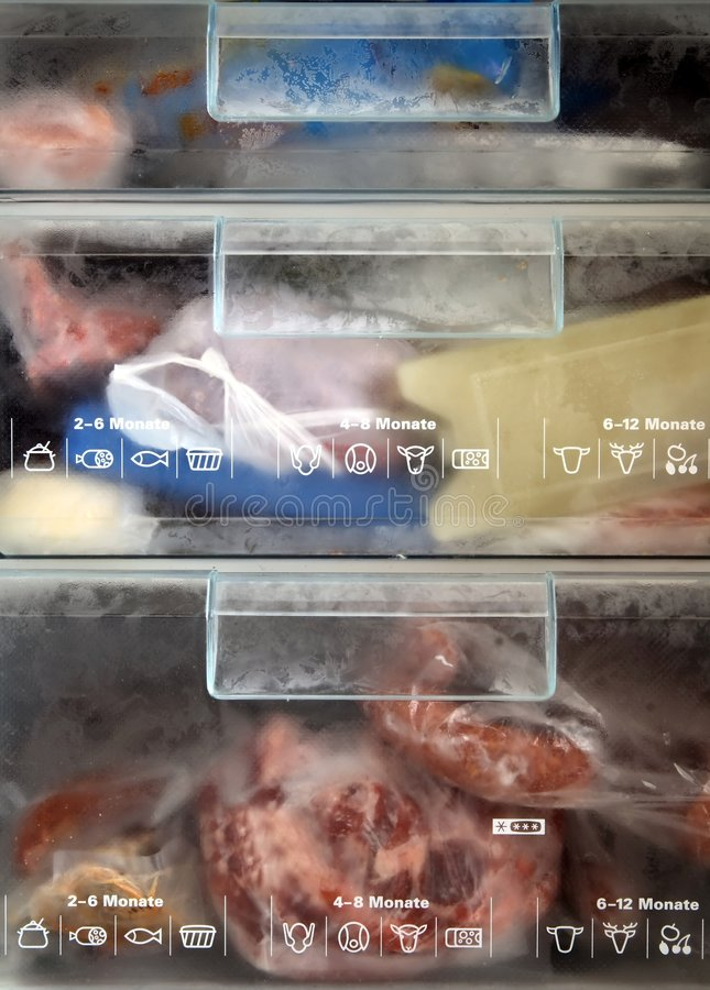 Inside a cold freezer. Photo royalty free stock photos