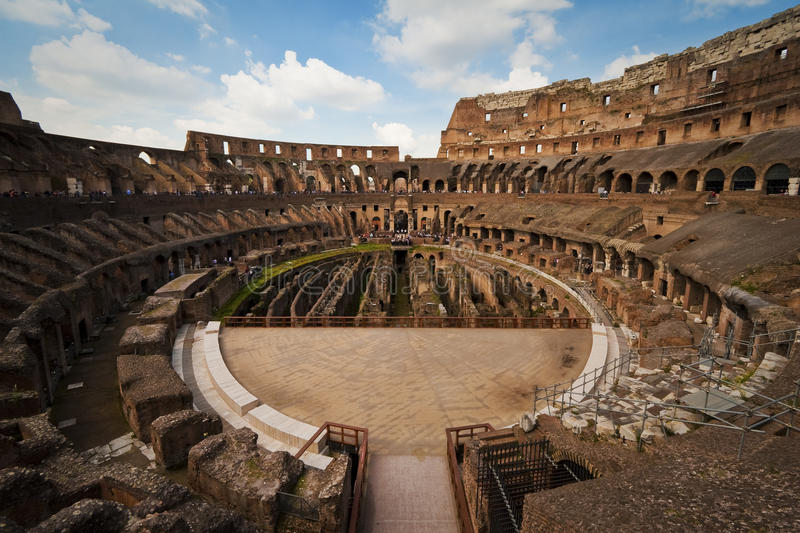 Inside the Coliseum, Rome, Italy stock photos