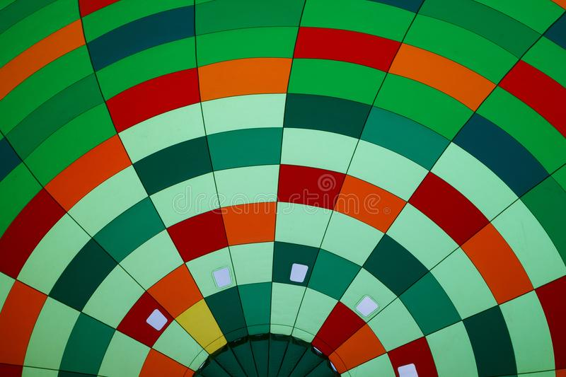 Inside in hot air balloon. Inside in a coloful hot air balloon royalty free stock images