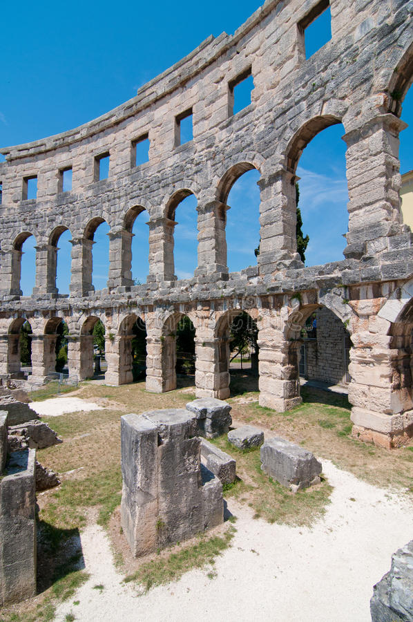 Download Inside Colosseum stock photo. Image of architecture, flavian - 20535200