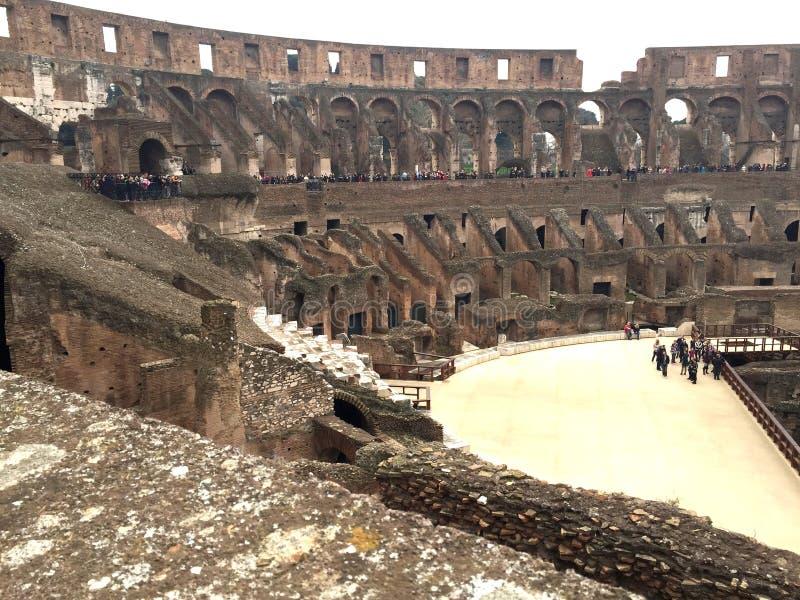 Inside Colosseum fotografia royalty free
