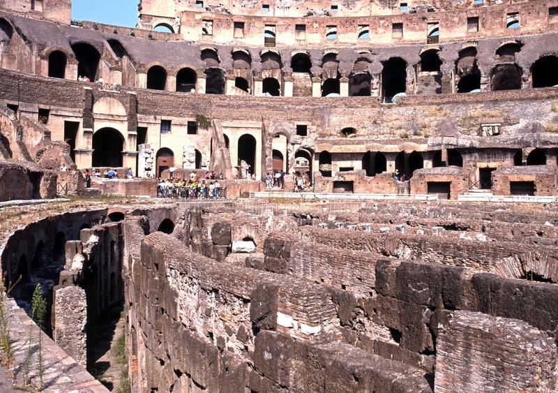 Inside the Colosseum, Rome. royalty free stock photography