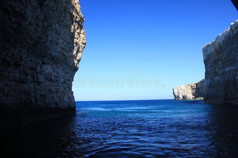 Inside Comino cave royalty free stock image