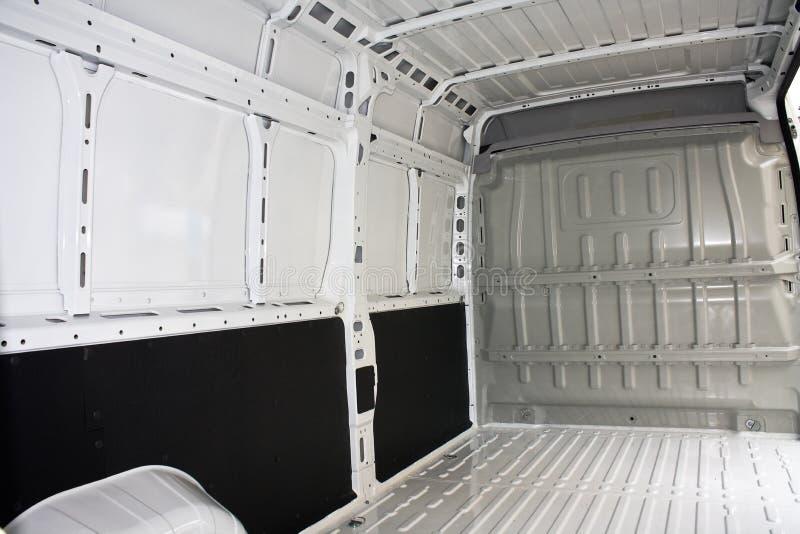 Inside commercial van stock image