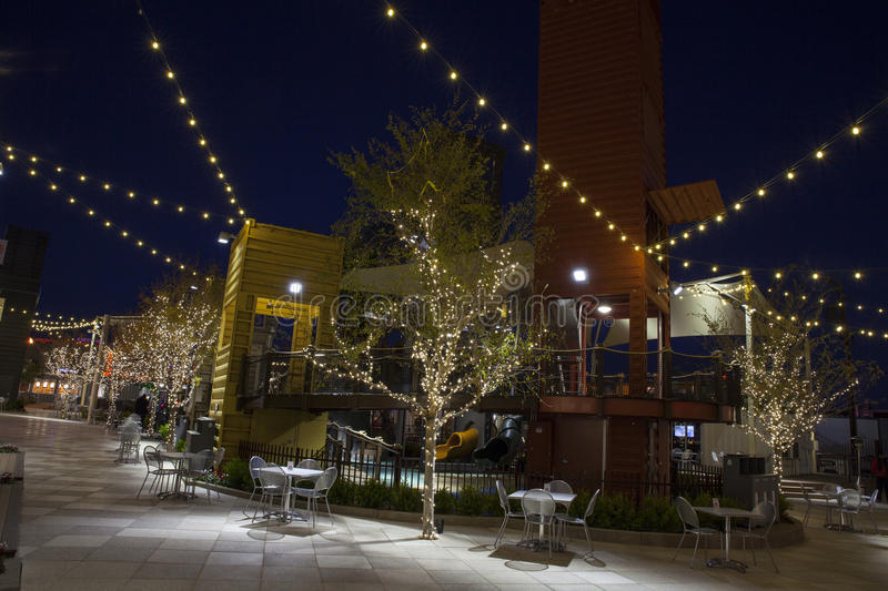 Download Inside Container Park In Las Vegas, NV On December 10, 2013 Editorial Image - Image of district, tourism: 36481625