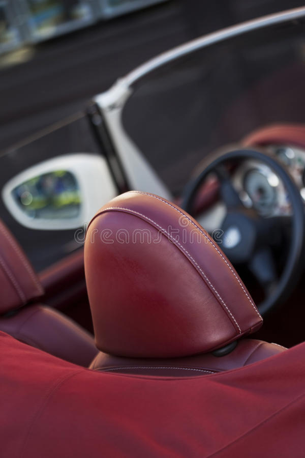 Inside a convertible stock images