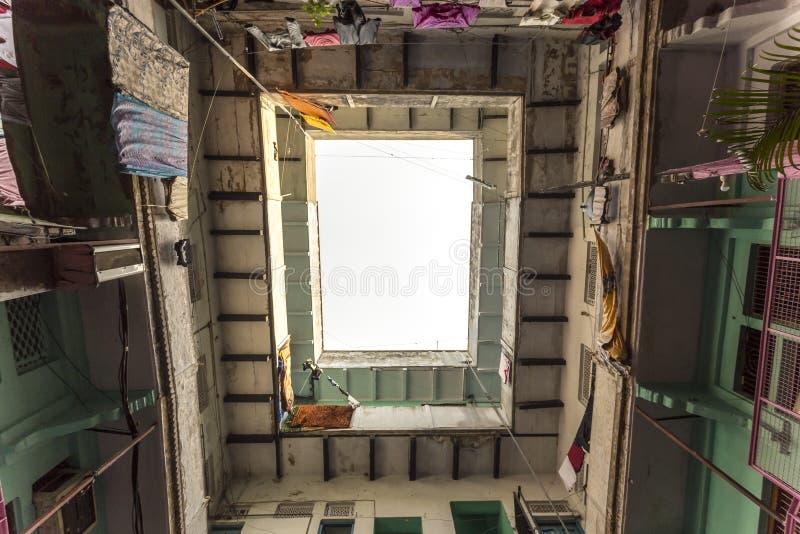 House building in Varanasi, India royalty free stock photography