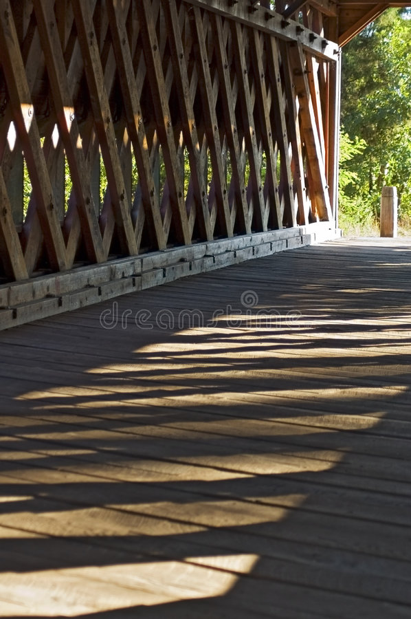 Inside the Covered Bridge royalty free stock photos