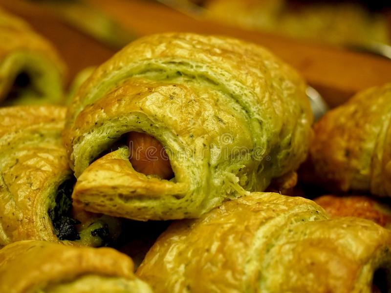 Inside Croissants stock images