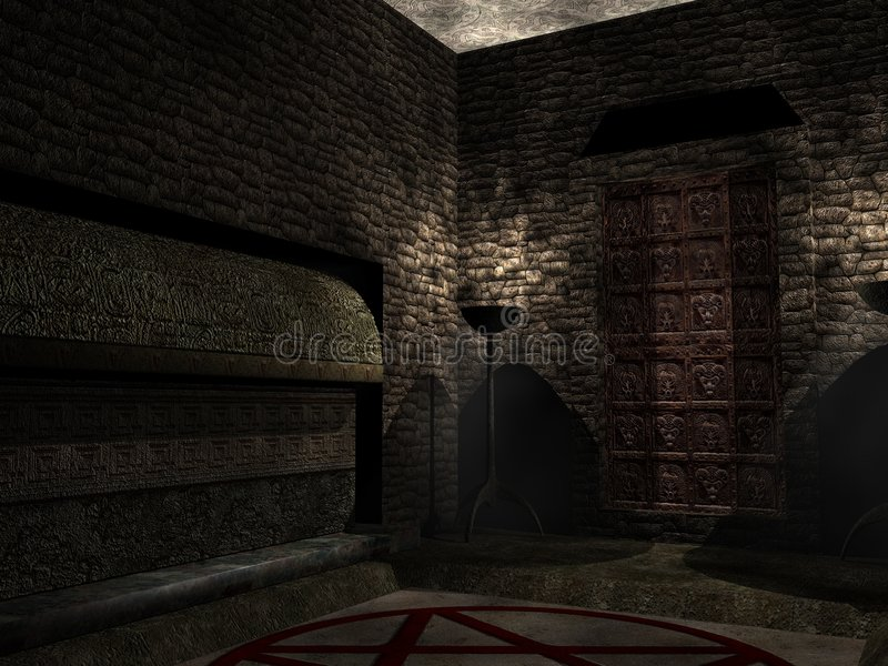 Inside the crypt stock images