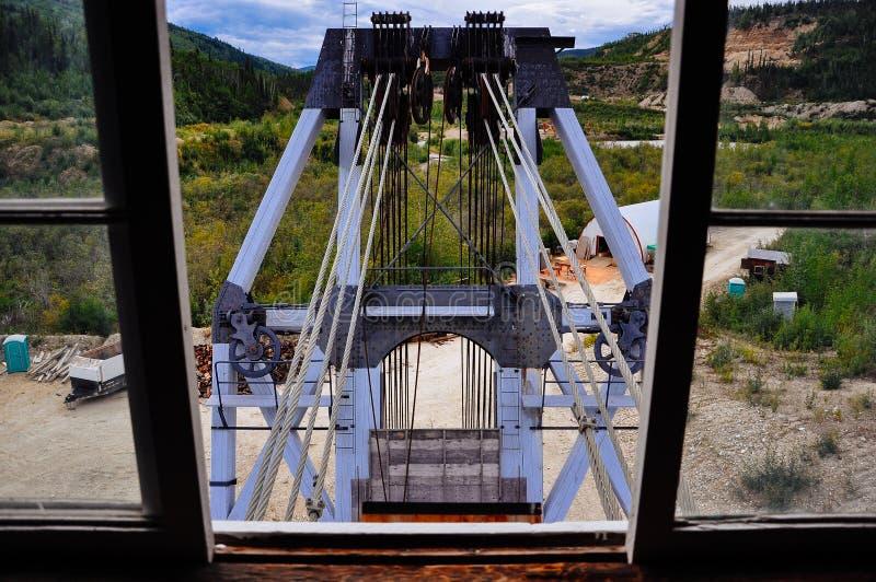Inside Dredge No. 4 near Dawson City, Yukon. royalty free stock images
