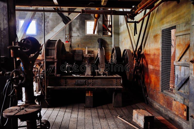 Inside Dredge No. 4 near Dawson City, Yukon. stock images