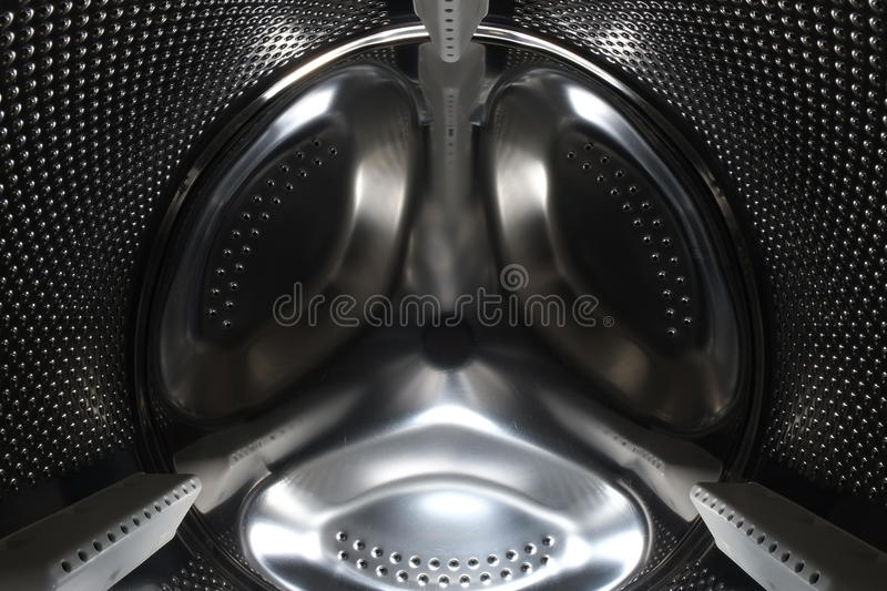 Inside the drum of a washing machine royalty free stock images