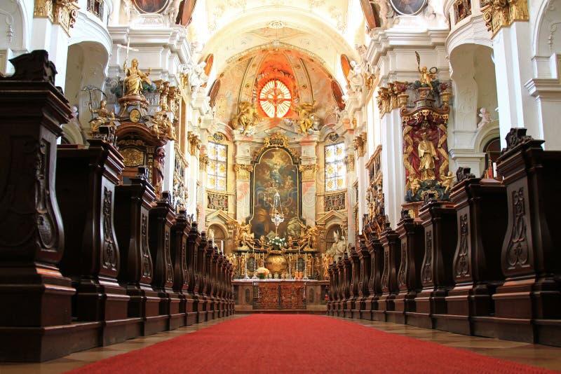 Inside Durnstein Abbey (Stift Durnstein), Austria Stock Photos