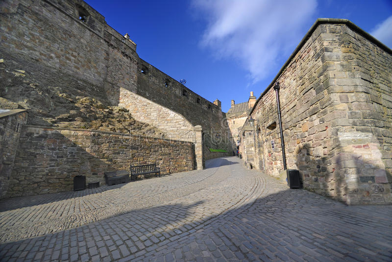 Inside the Edinburgh castle stock photo