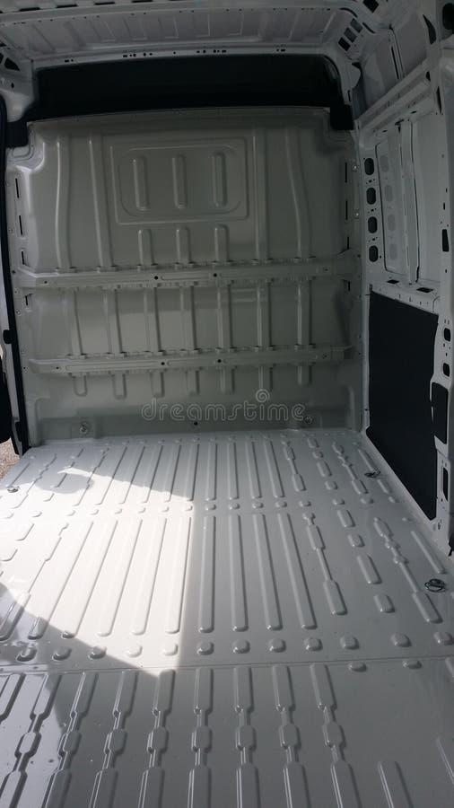 Inside empty van stock images