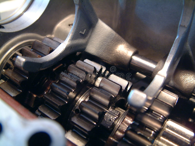 Inside engine stock image