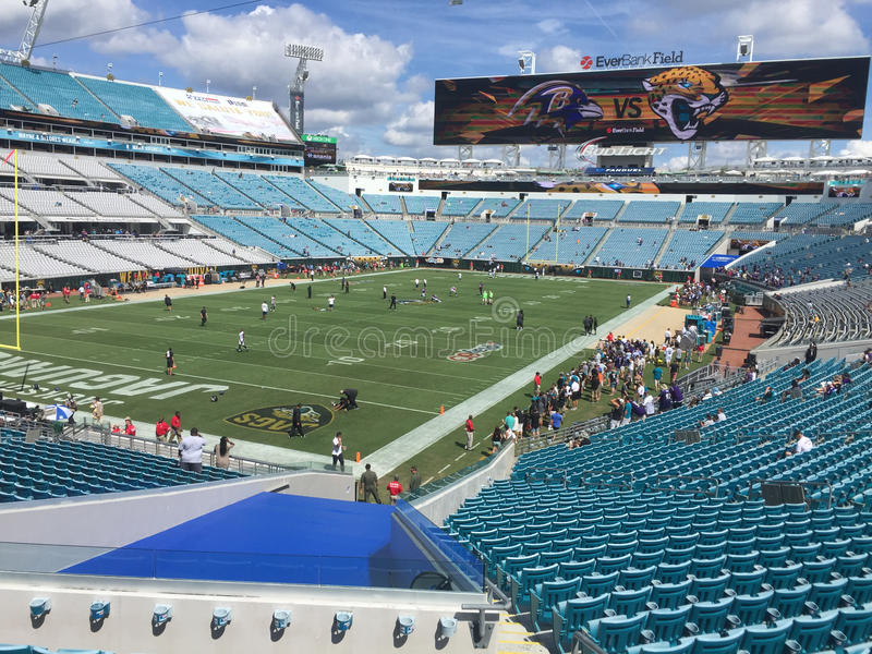 Inside EverBank Field royalty free stock images