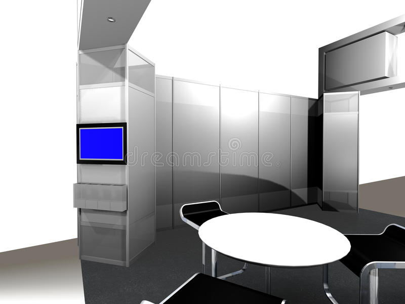 Download Inside Of An Exhibition Booth Stock Illustration - Illustration of convention, booth: 18569663