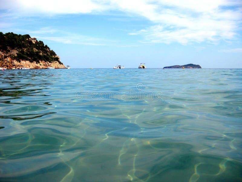 Inside fala woda jasny błękitny morze obrazy royalty free