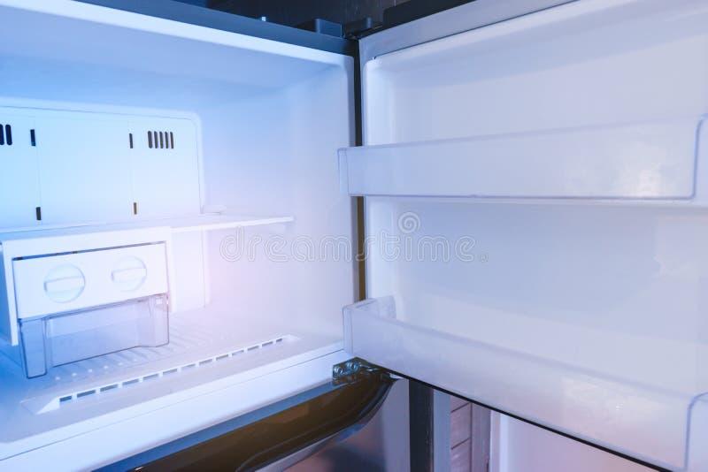 Inside refrigerator on empty. Inside freezer refrigerator on empty stock photography