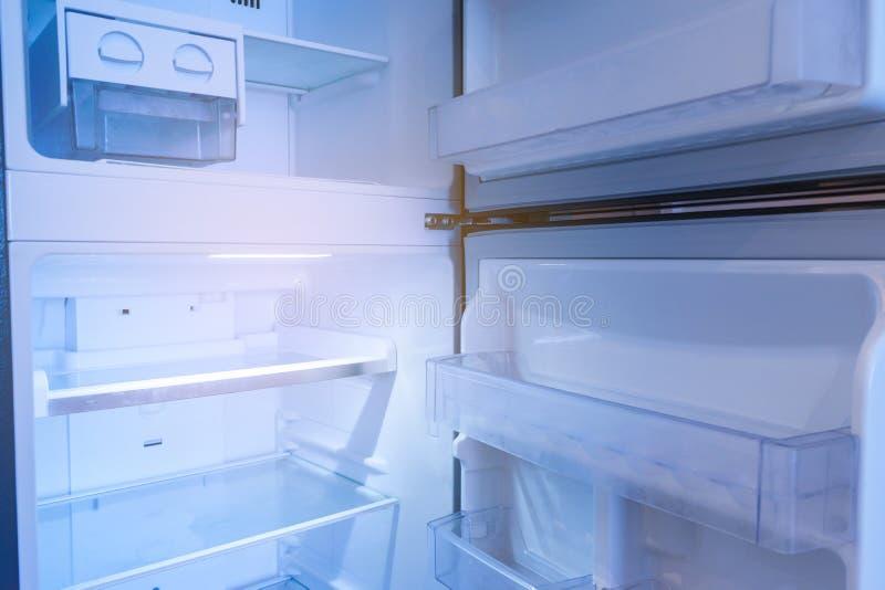 Inside refrigerator on empty. Inside freezer refrigerator on empty royalty free stock photography