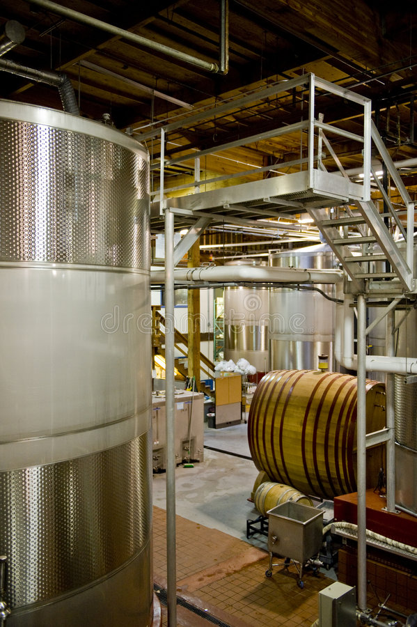 Download Inside of a French Winery stock photo. Image of industrial - 4196806