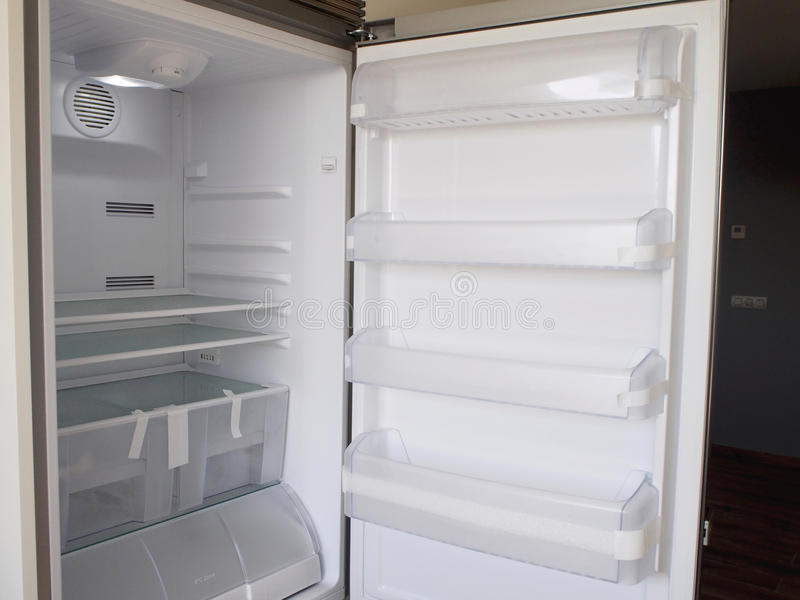 Inside fridge royalty free stock images