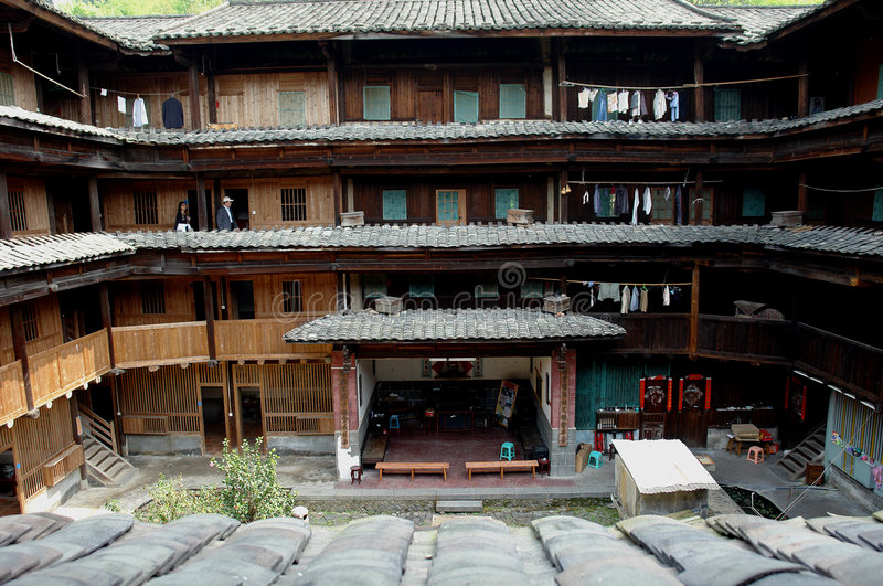 Download Inside of Fujian Tulou stock image. Image of village, house - 9029297