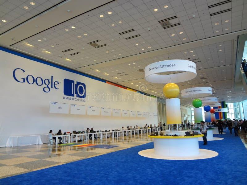 Inside Google I/O androidu konwenci przedsiębiorcy budowlanego konferencja zdjęcie stock