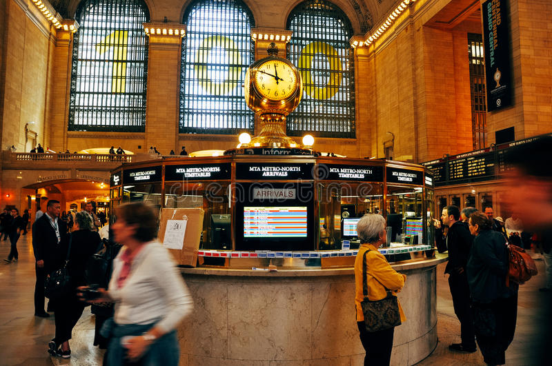 Inside the Grand Central Terminal in New York City. stock photo