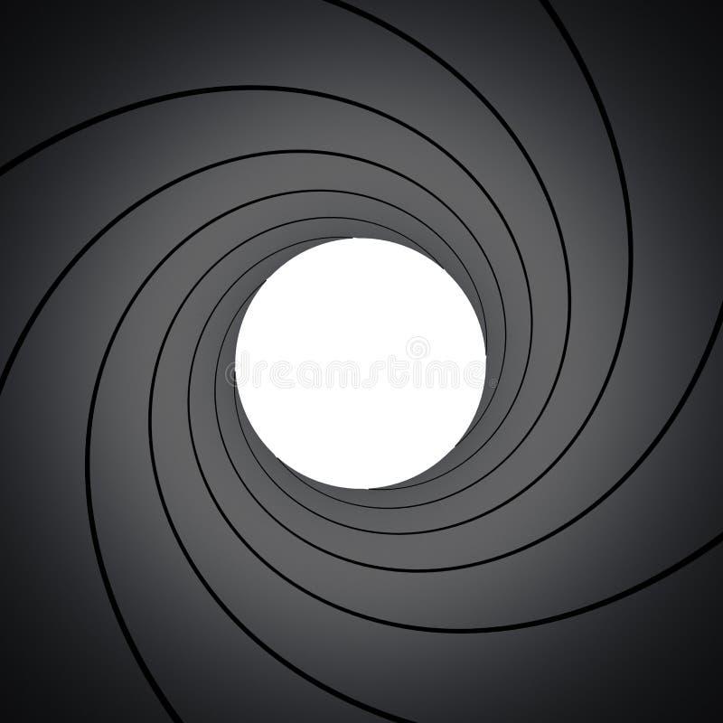 Inside gun barrel stock image