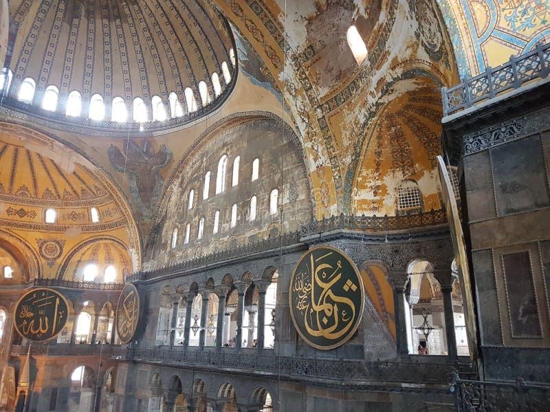 Inside of Hagia Sofia in Istanbul stock photo