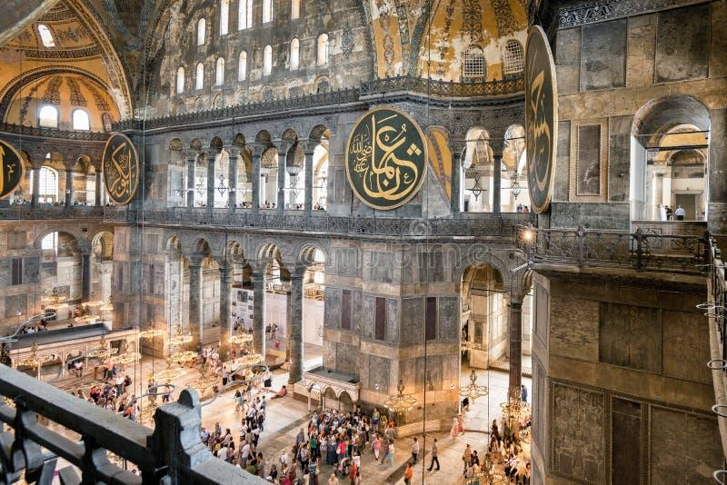 Inside the Hagia Sophia or Aya Sofya, Istanbul, Turkey stock images
